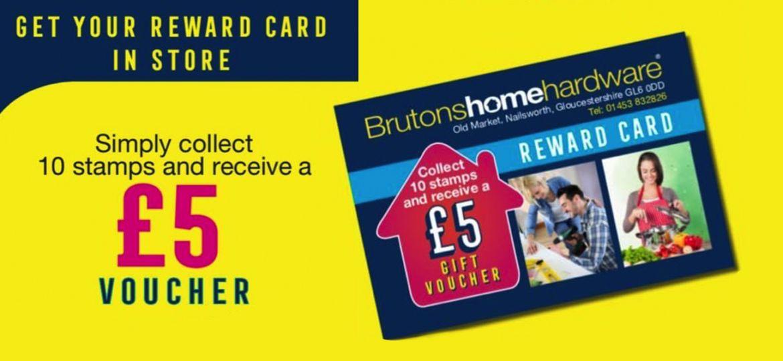 Bruton's Reward Card